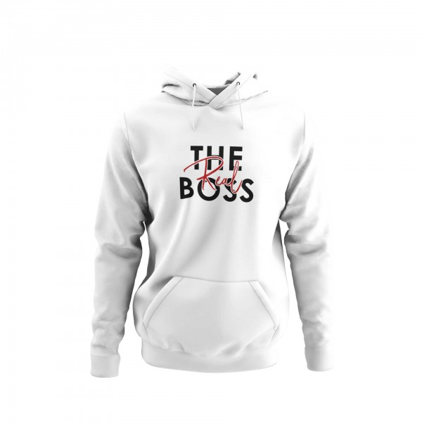 Damen Hoodie -The real boss couple