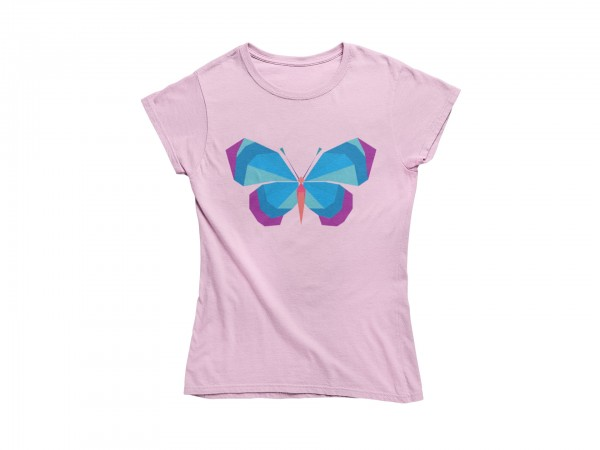 "Damen T Shirt ""Blue butterfly"""