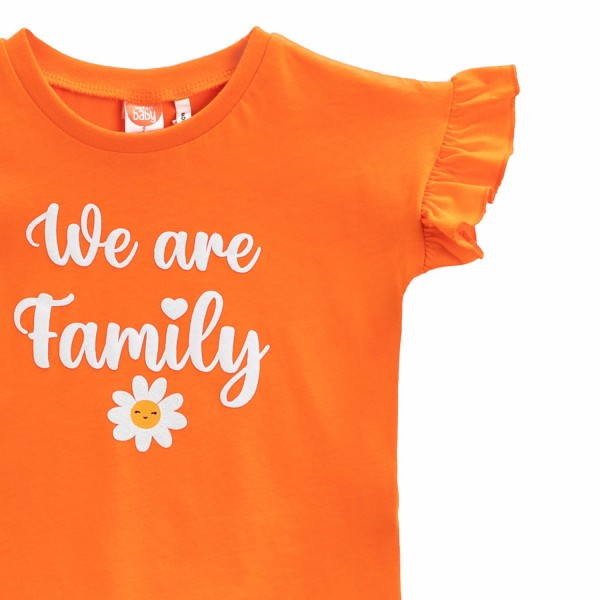 Mädchen T-Shirt -We are family