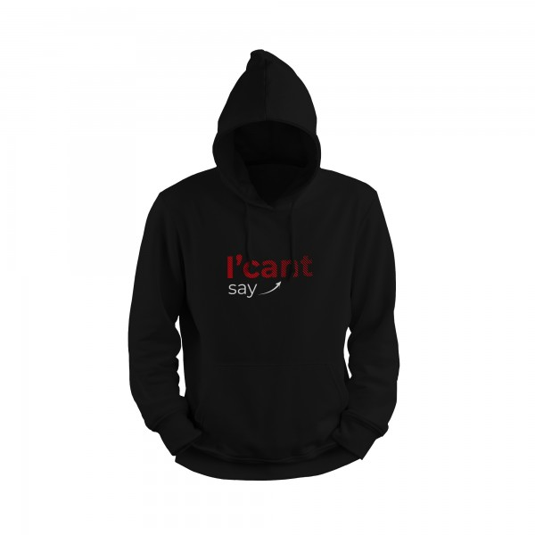 Herren Hoodie -I can't say I can't