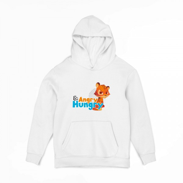 Jungen Kapuzenpullover - Hungry and Angry