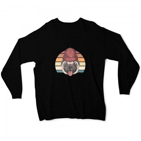 "Damen Sweatshirt ""Retro pug"""
