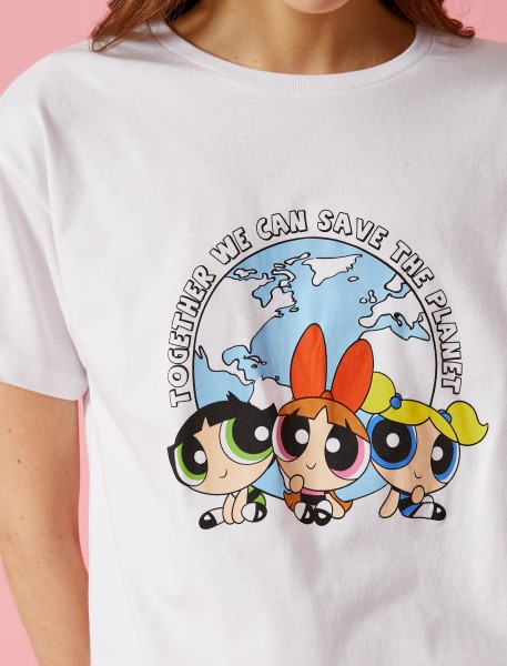 Damen T-Shirt -together we can save the planet