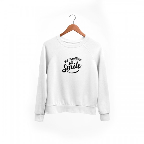 "Damen Sweatshirt ""Be positive and smile"""