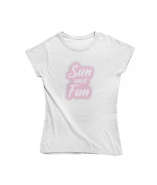 "Damen T Shirt ""Sun and fun"""