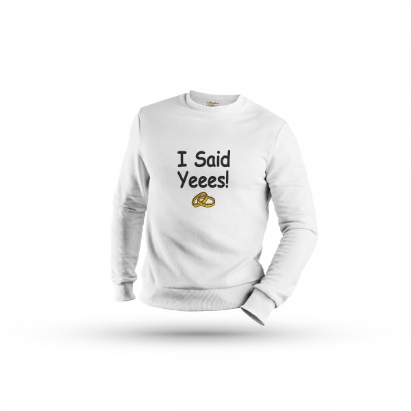 Damen Sweatshirt -i asked & i said yes couple