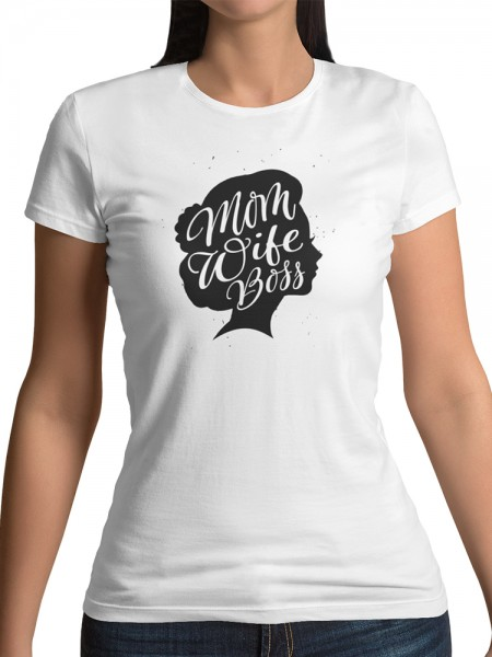 "Damen T Shirt ""Mom wife boss head"""