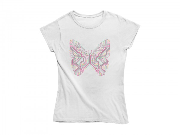 "Damen T Shirt ""Electric butterfly"""