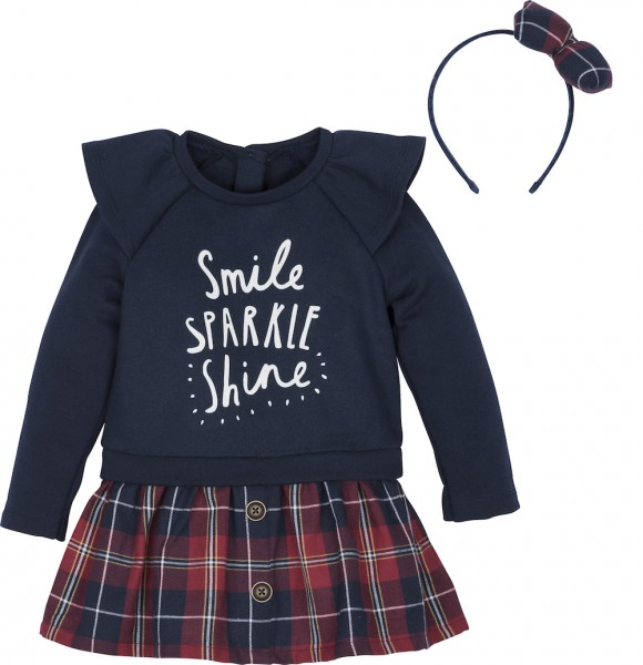 "Set Shirt mit Rock und Haarreif ""smile sparkle shine"""