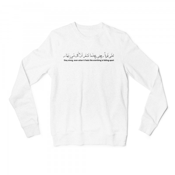 "Herren Sweatshirt ""Stay Strong"""