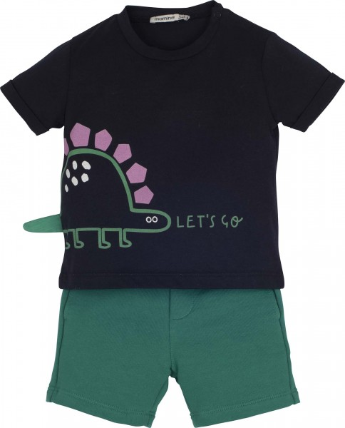"Set T-Shirt mit Short ""Let's go"""