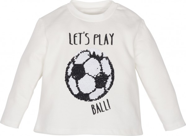 "Jungen-Sweatshirt ""lets play ball"" mit Pailletten"