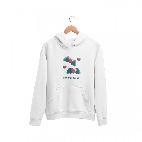 "Damen Hoodie ""Love is I the air"""