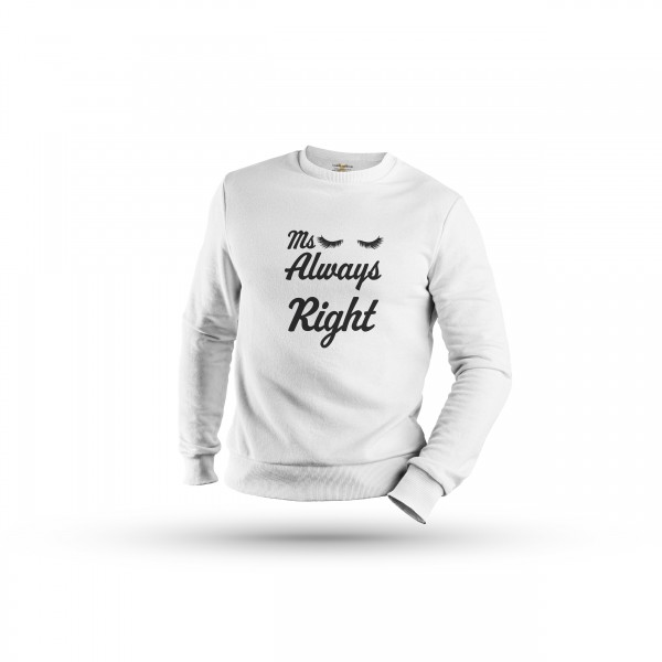 Damen Sweatshirt -Mr right & Ms always right couple
