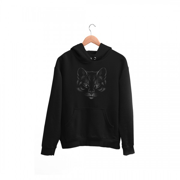 Damen Hoodie -Chalk cat drawing