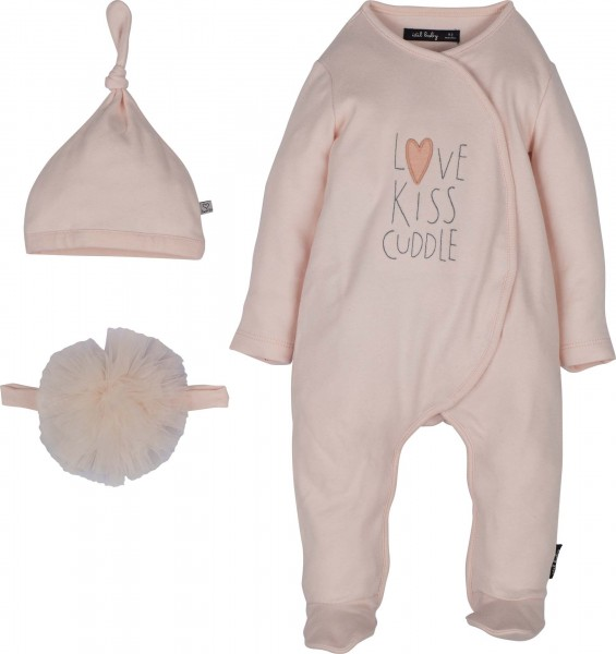 "Newborn Set 3-tlg ""Love, kiss, cuddle"""